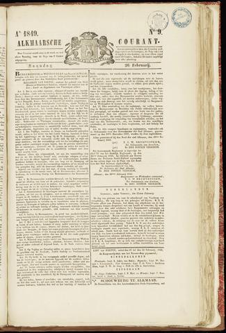 Alkmaarsche Courant 1849-02-26