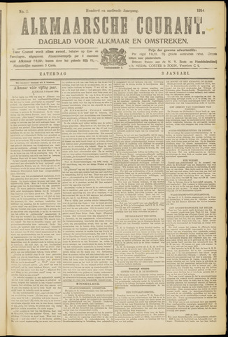 Alkmaarsche Courant 1914-01-03