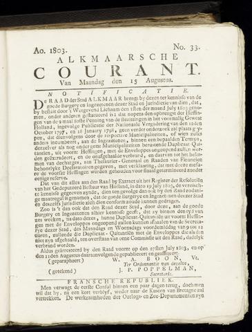 Alkmaarsche Courant 1803-08-15