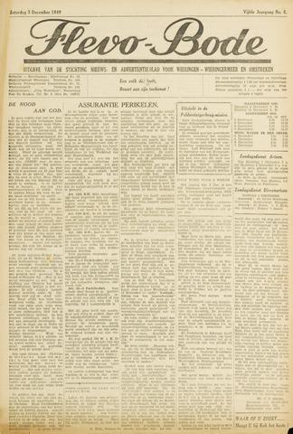Flevo-bode: nieuwsblad voor Wieringen-Wieringermeer 1949-12-03