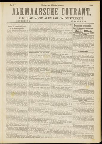 Alkmaarsche Courant 1913-11-27