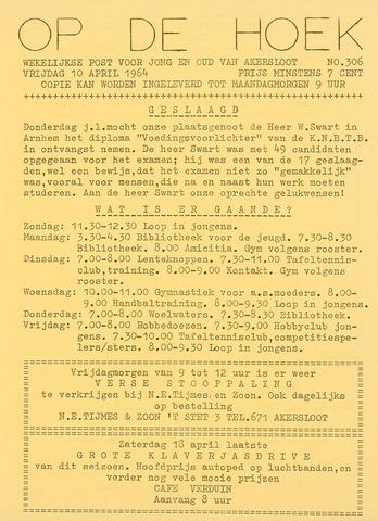 Op De Hoek, weekblad voor Akersloot 1964-04-10
