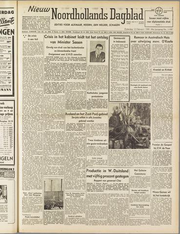 Nieuw Noordhollandsch Dagblad : voor Alkmaar en omgeving 1949-02-12