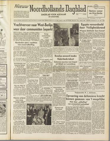 Nieuw Noordhollandsch Dagblad : voor Alkmaar en omgeving 1951-09-03