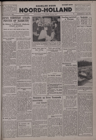 Dagblad Noord-Holland, Schager editie 1942-06-11