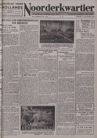Dagblad voor Hollands Noorderkwartier 1941-11-11