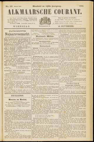 Alkmaarsche Courant 1903-11-18