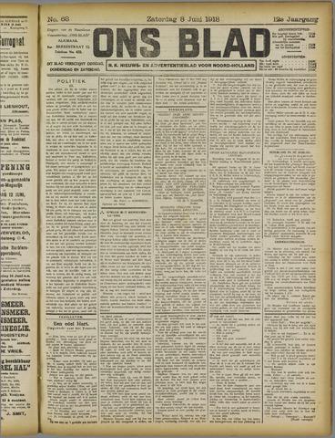 Ons Blad : katholiek nieuwsblad voor N-H 1918-06-08