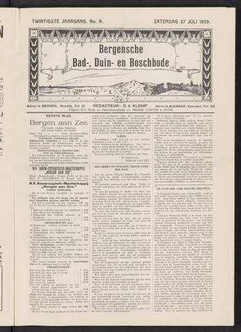 Bergensche bad-, duin- en boschbode 1929-07-27