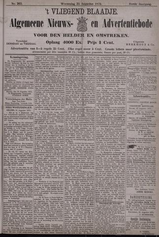 Vliegend blaadje : nieuws- en advertentiebode voor Den Helder 1875-08-25