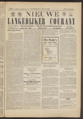 Nieuwe Langedijker Courant 1930-06-07