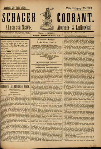 Schager Courant 1889-07-28