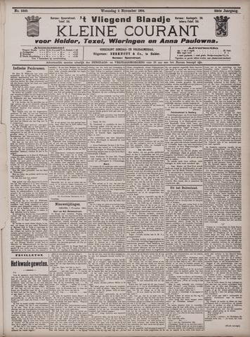 Vliegend blaadje : nieuws- en advertentiebode voor Den Helder 1904-11-02