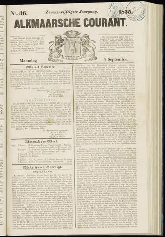 Alkmaarsche Courant 1855-09-03