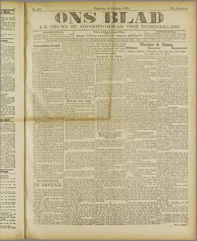 Ons Blad : katholiek nieuwsblad voor N-H 1920-10-30