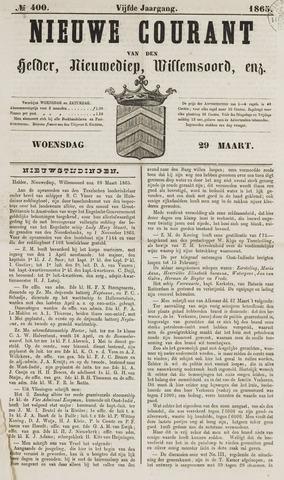 Nieuwe Courant van Den Helder 1865-03-29