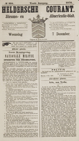 Heldersche Courant 1870-12-07