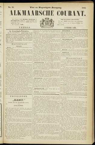 Alkmaarsche Courant 1892-02-05