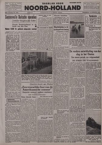 Dagblad Noord-Holland, Schager editie 1942-08-19