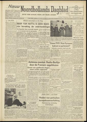 Nieuw Noordhollandsch Dagblad : voor Alkmaar en omgeving 1948-12-17