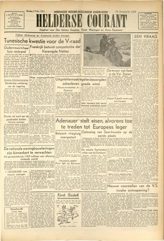 Heldersche Courant 1952-02-05