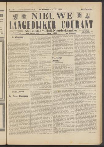 Nieuwe Langedijker Courant 1932-06-21