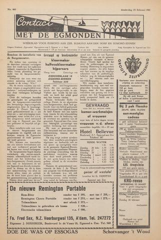 Contact met de Egmonden 1961-02-23