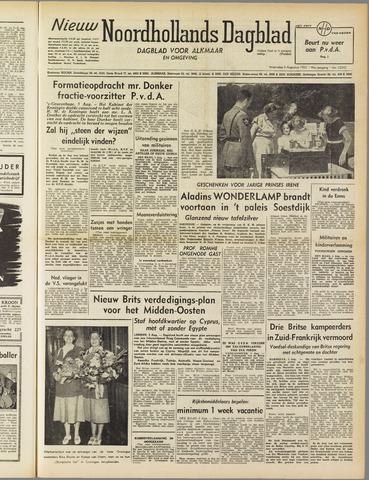 Nieuw Noordhollandsch Dagblad : voor Alkmaar en omgeving 1952-08-06