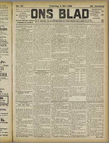 Ons Blad : katholiek nieuwsblad voor N-H 1918-05-04