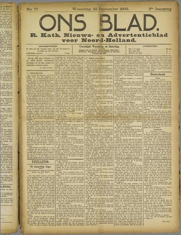 Ons Blad : katholiek nieuwsblad voor N-H 1908-09-23