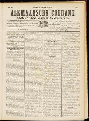 Alkmaarsche Courant 1911-02-20