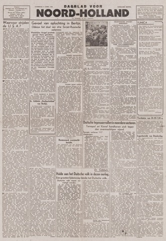 Dagblad Noord-Holland, Schager editie 1944-04-08