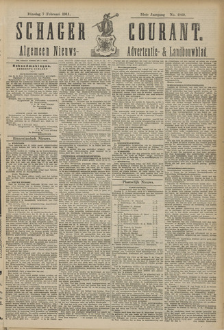 Schager Courant 1911-02-07