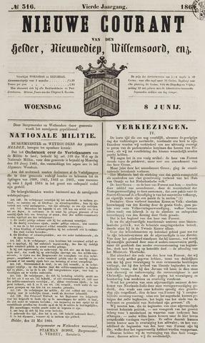 Nieuwe Courant van Den Helder 1864-06-08