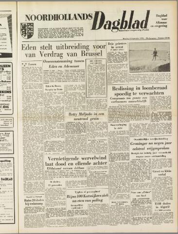 Noordhollands Dagblad : dagblad voor Alkmaar en omgeving 1954-09-14