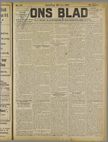 Ons Blad : katholiek nieuwsblad voor N-H 1917-07-28