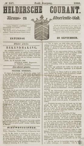 Heldersche Courant 1866-09-29