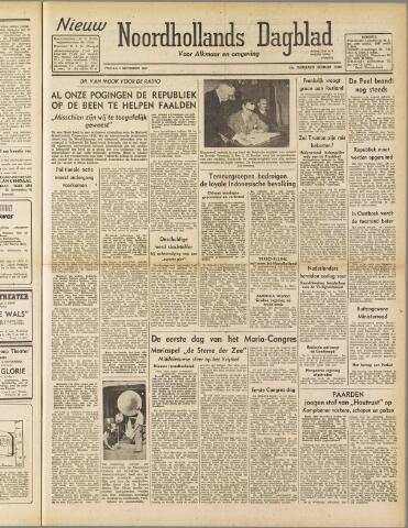 Nieuw Noordhollandsch Dagblad : voor Alkmaar en omgeving 1947-09-05