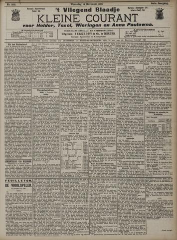 Vliegend blaadje : nieuws- en advertentiebode voor Den Helder 1906-11-14
