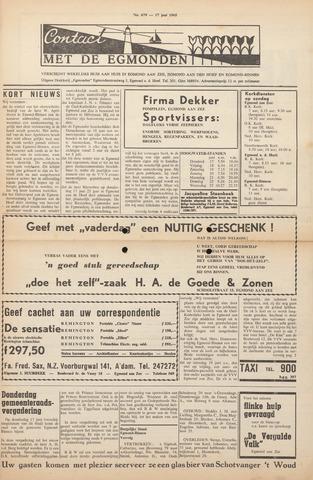 Contact met de Egmonden 1965-06-17