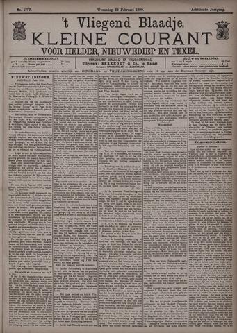 Vliegend blaadje : nieuws- en advertentiebode voor Den Helder 1890-02-26