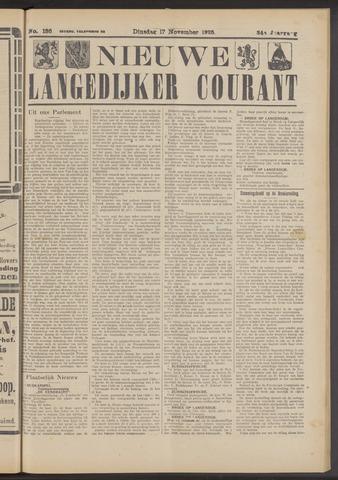 Nieuwe Langedijker Courant 1925-11-17