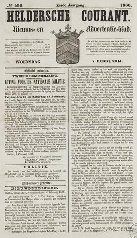 Heldersche Courant 1866-02-07
