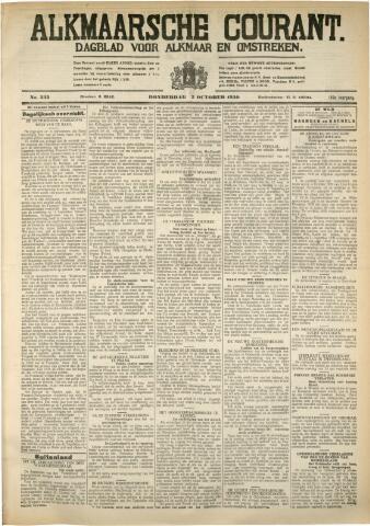 Alkmaarsche Courant 1930-10-02