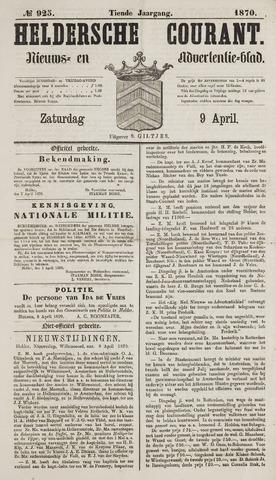 Heldersche Courant 1870-04-09