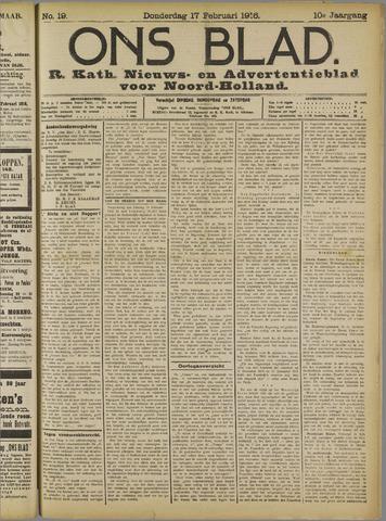 Ons Blad : katholiek nieuwsblad voor N-H 1916-02-17
