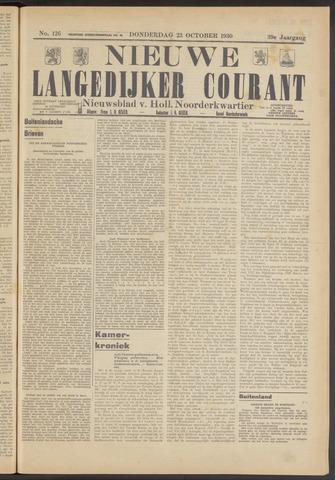 Nieuwe Langedijker Courant 1930-10-23