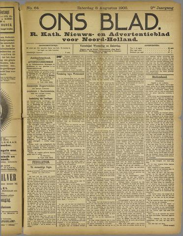 Ons Blad : katholiek nieuwsblad voor N-H 1908-08-08