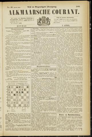 Alkmaarsche Courant 1893-04-02