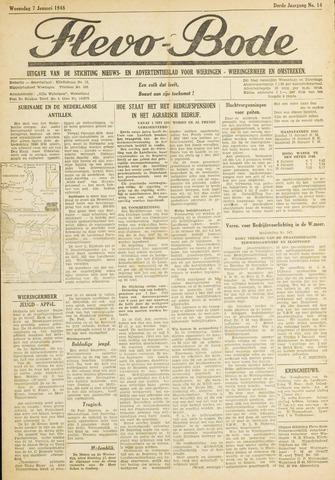 Flevo-bode: nieuwsblad voor Wieringen-Wieringermeer 1948-01-07